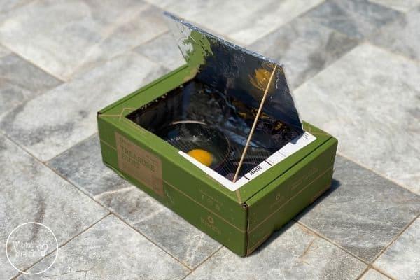 Solar Oven Cook an Egg Experiment