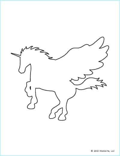 Standing Unicorn Cutout