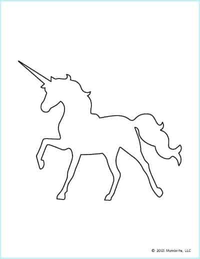 Standing Unicorn Outline