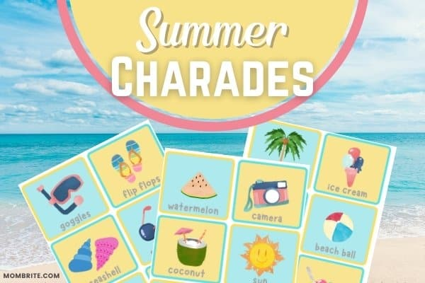 Summer Charades Game for Kids