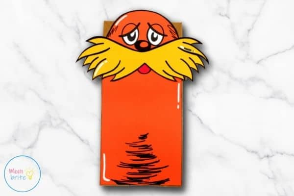The Lorax Paper Bag Puppet Craft