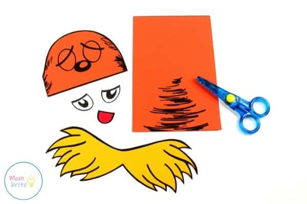 The Lorax Paper Bag Puppet Cut Out Template Patterns