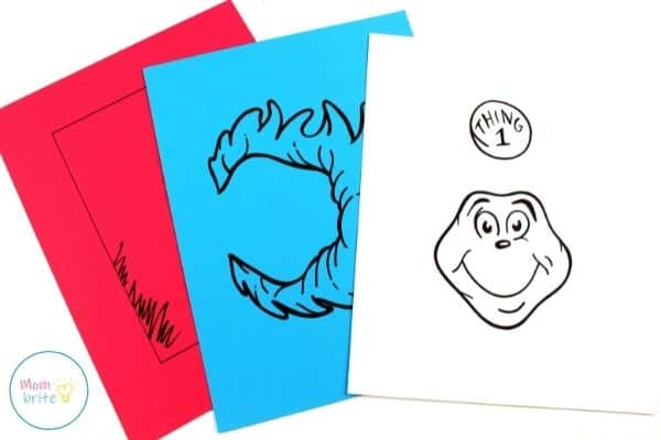 Thing 1 and Thing 2 Paper Bag Puppets Template