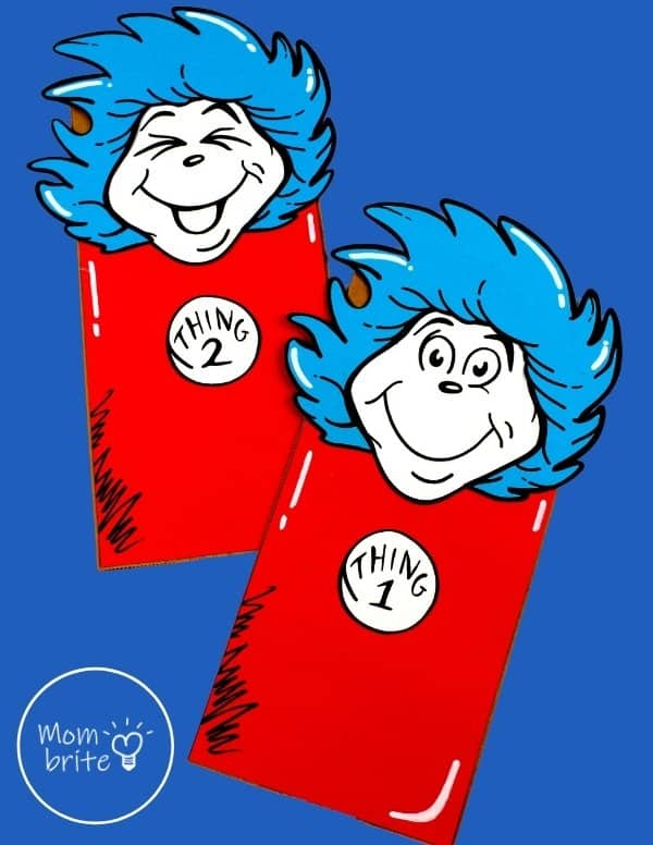 Thing 1 and Thing 2 Puppets Craft