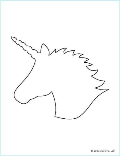 Unicorn Head Outline