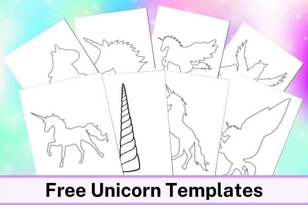 Unicorn Templates Printables