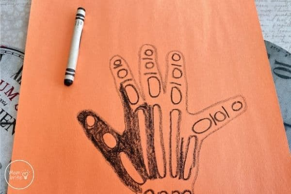 X-Ray Craft Color the Hand