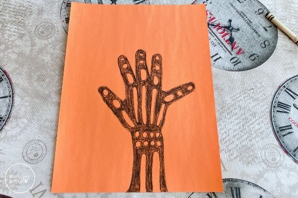 X-Ray Craft Finish Coloring the Hand