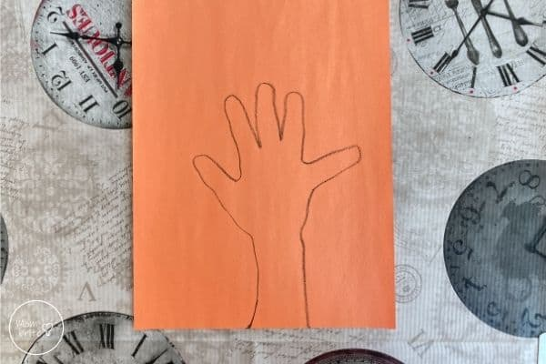X-Ray Craft Trace Hand with Crayon