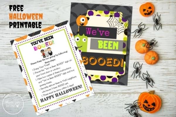 You've Been Booed Printable Signs