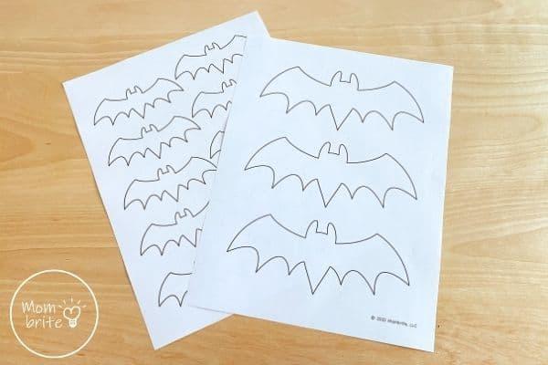Bat Template Printed