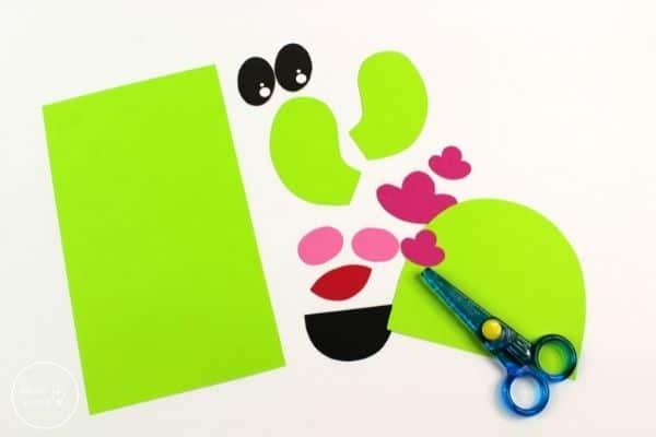 Cactus Paper Bag Puppet Template Patterns