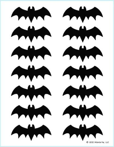 Extra Small Black Bat Outline