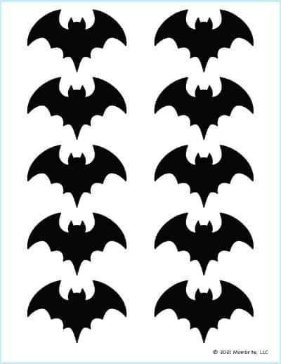 Extra Small Black Bat Stencil