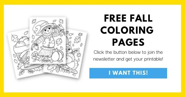 Fall Coloring Pages Email List Opt-In