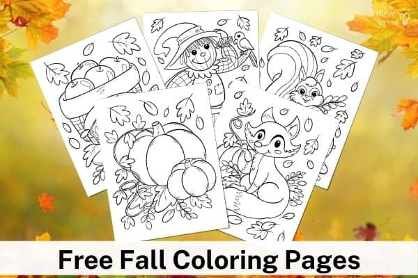 Free Fall Coloring Pages Mockup