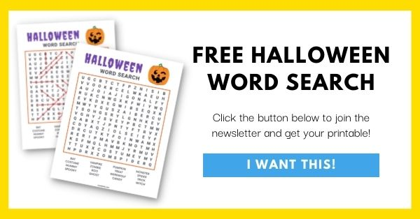 Halloween Word Search Email List Opt-In