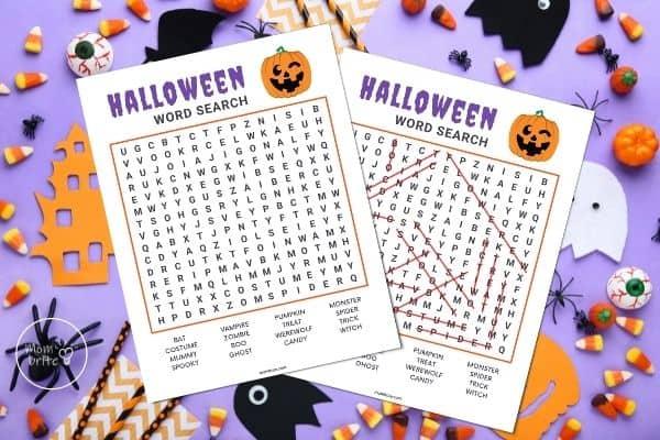 Halloween Word Search Mockup