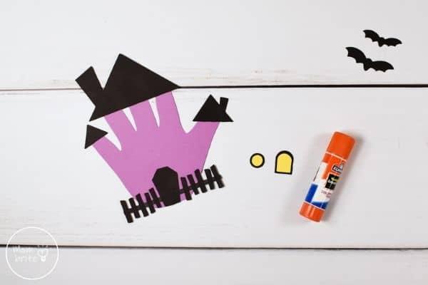 Handprint Haunted House Assemble Windows