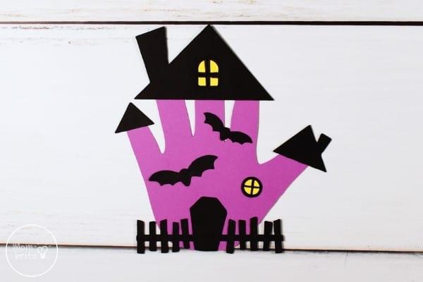 Handprint Haunted House Craft