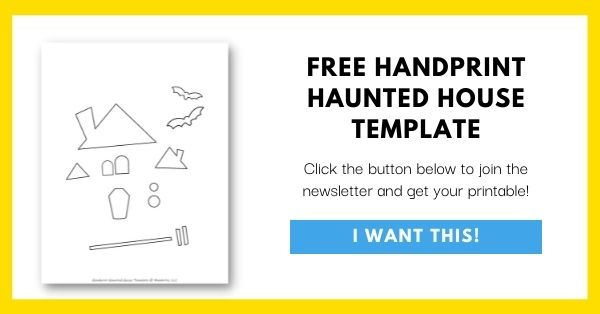 Handprint Haunted House Template Email List Opt-In