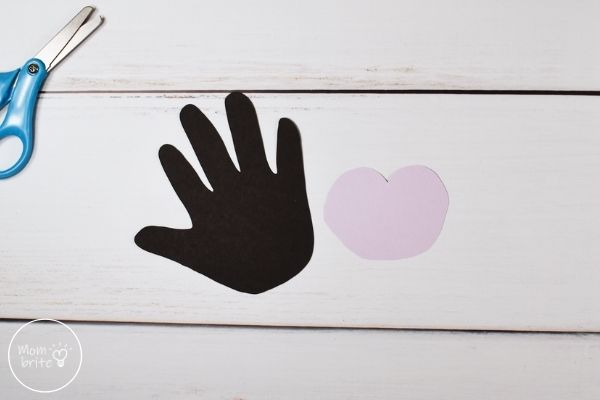 Handprint Vampire Craft Purple Face Cut Out