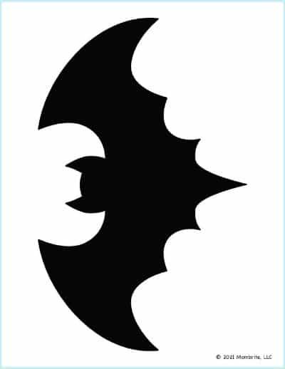 Large Black Bat Stencil