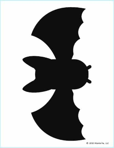 Large Black Bat Template
