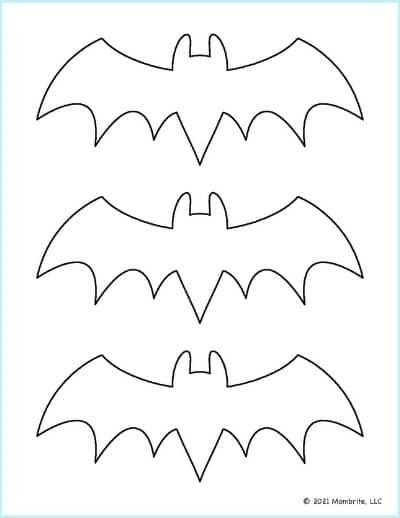 Medium Bat Outline