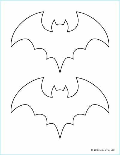 Medium Bat Stencil