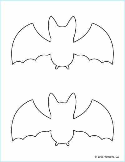 Medium Bat Template