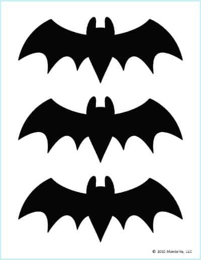 Medium Black Bat Outline