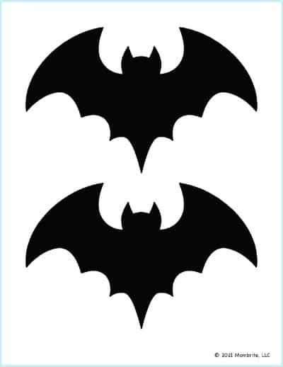 Medium Black Bat Stencil