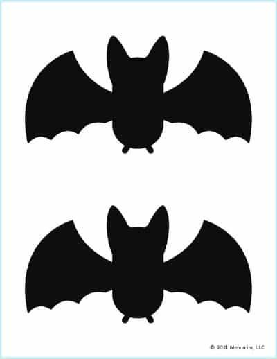 Medium Black Bat Template