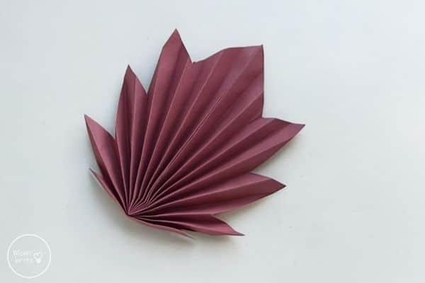 Origami Maple Leaf Fan Out Leaf