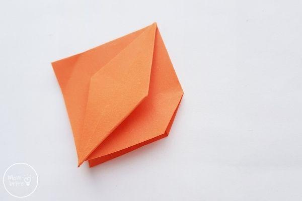 Origami Pumpkin Step 12