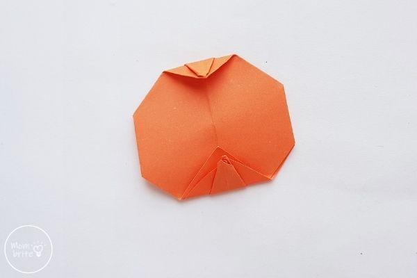 Origami Pumpkin Step 15