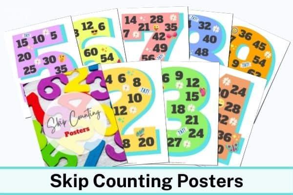 Skip Counting Posters Mockup