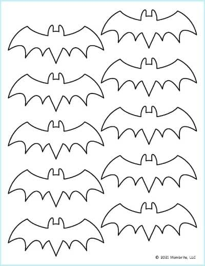 Small Bat Outline