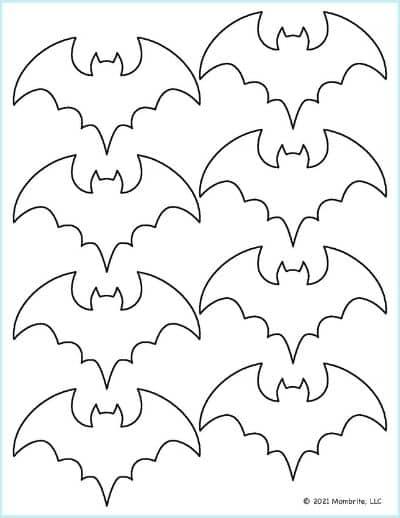 Small Bat Stencil