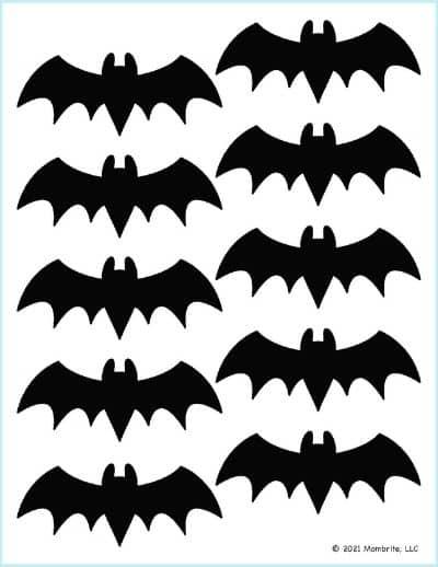 Small Black Bat Outline