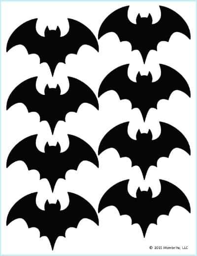 Small Black Bat Stencil