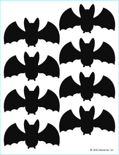 Small Black Bat Template
