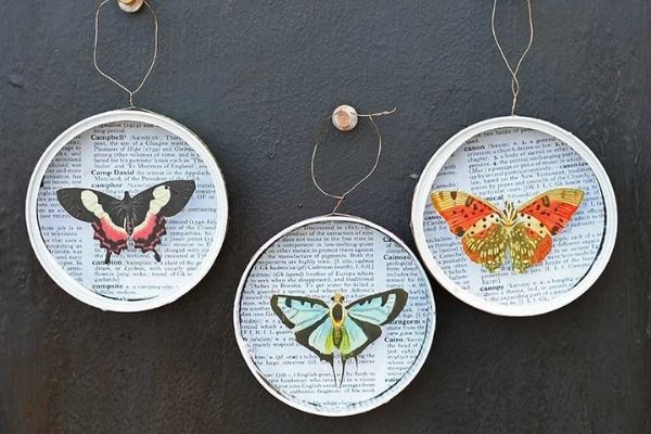 VINTAGE DIY CHRISTMAS BUTTERFLY ORNAMENT