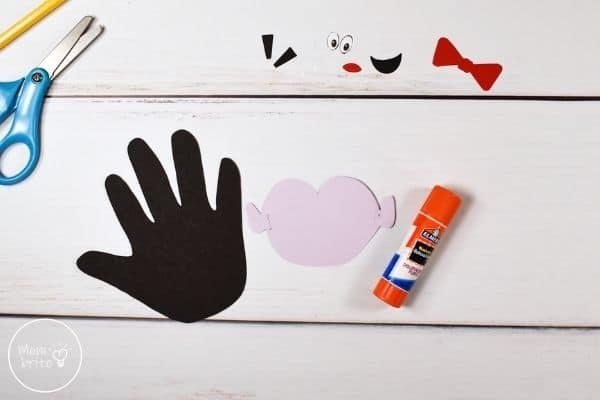 Vampire Handprint Craft Glue Ears