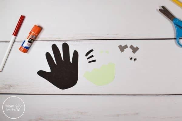 Frankenstein Handprint Craft Cut Template Patterns