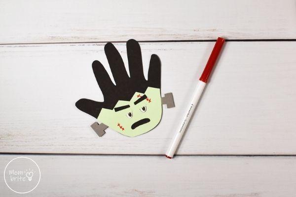 Frankenstein Handprint Craft Draw Scars