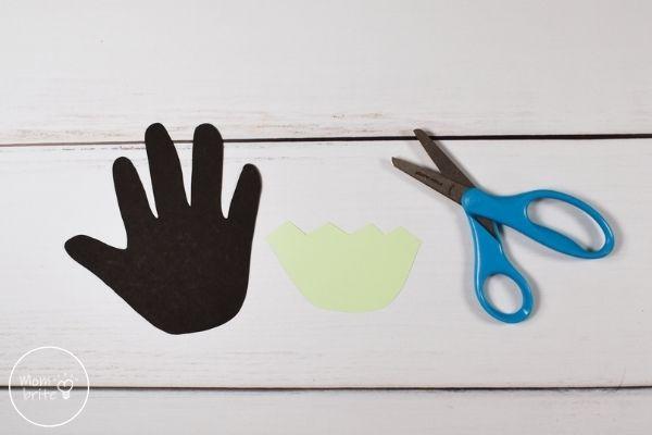 Frankenstein Handprint Craft Face Cutout