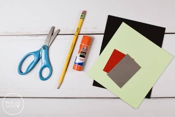 Frankenstein Handprint Craft Materials