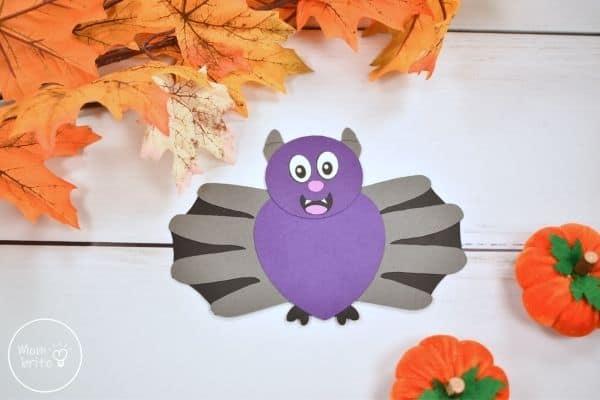 Halloween Bat Handprint Craft